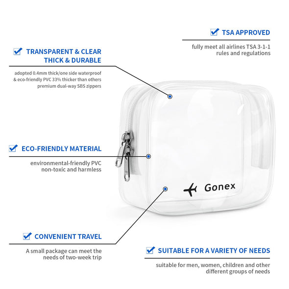Gonex TSA Approved Clear Toiletry Bag
