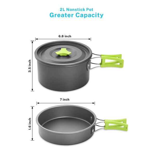 Gonex Camping Cookware Set with Furnace Head