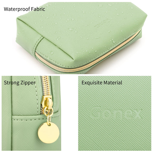 Gonex Portable Water-Resistant Small Makeup Bag