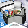 Insulated Lunch Bag for Men Women, Bagmine Adult Lunch Box for Meal Prep Waterproof Zipper & Leak-proof Inside Cooler Bag with 2 Spacious Compartment for For Commuter, School, Camping