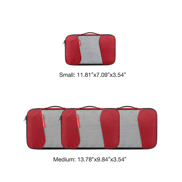 Gonex Packing Cubes Luggage Travel Organizers 3 Medium+1 Small