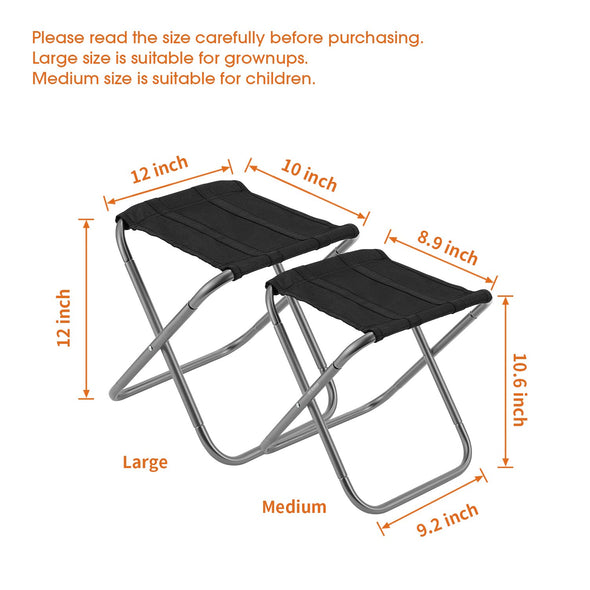 Gonex Folding Compact Camping Stool Large