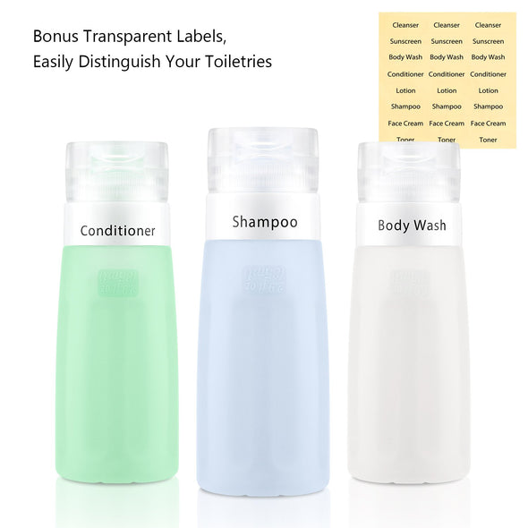 Gonex Tricolor Leakproof Travel Bottles Set