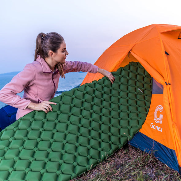 Gonex Air Sleeping Pad with Travel Pillow