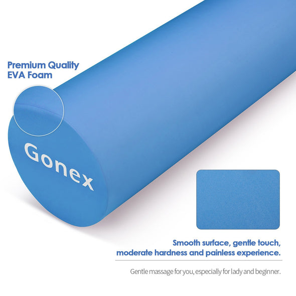 Gonex 36 Inch EVA High-Density Exercise Foam Roller