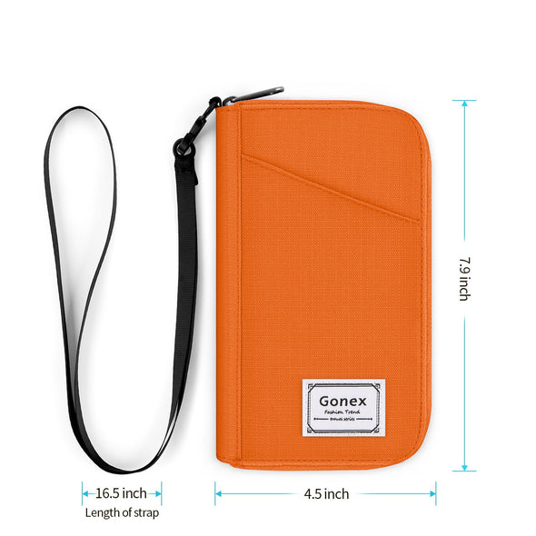 Gonex Family Flip Passport Holder RFID Blocking Travel Wallet