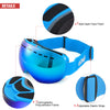 Gonex Oversized Professional Ski Goggles OTG Anti-fog Windproof UV Protection with Double Spherical Lens