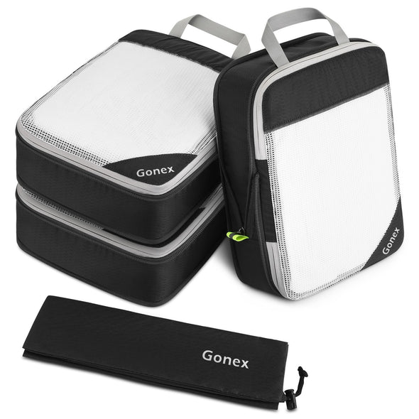 Gonex Travel Suitcase Luggage Organizer Set with Zip Bags