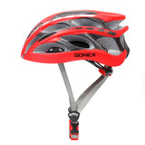 Gonex Adult Bike Helmet, Cycling Road Mountain Helmet with Safety Light, Adjustable 58-62cm, 24 Integrated Flow Vents