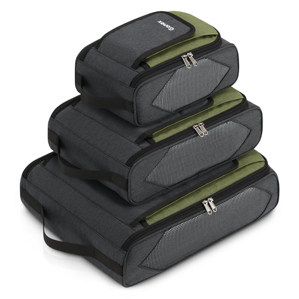 Gonex Business Clothes Suitcase Organizer Packing Cubes 3 sets