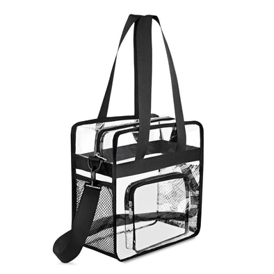 Gonex Multi-Pockets Clear Crossbody Shoulder Tote Bag