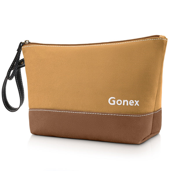 Gonex Large Canvas Makeup Bag