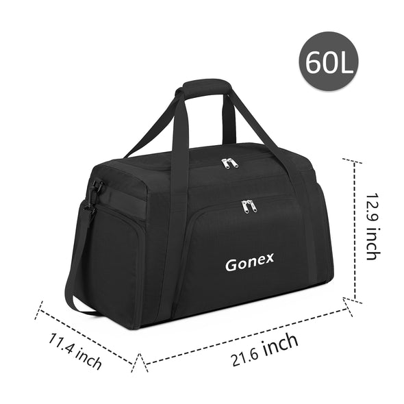 Gonex 60L Portable Travel Duffle Bag, Large Sports Duffel Newly Designed