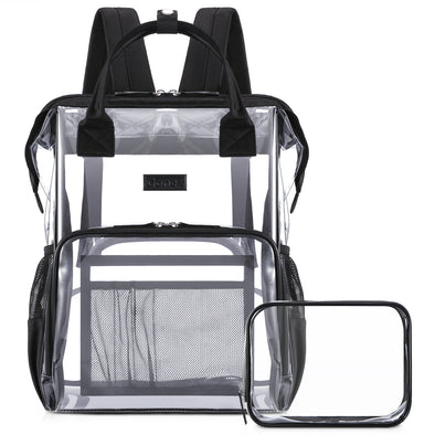 Gonex Clear Backpack with Cosmetic Bag