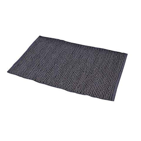 2x3' Grey Cotton Door mat Braided Area Rug