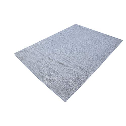 MystiqueDecors Gray 5x7' Area Rug Cotton Lightweight Reversible Handmade Rug for Living Room, Bedroom Home Décor, Easy Clean
