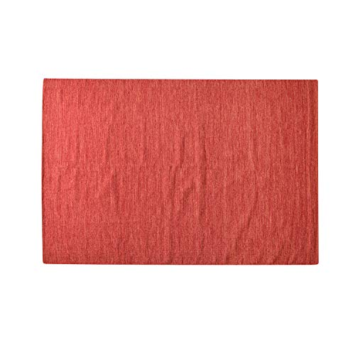 MystiqueDecors Red & Orange 5x7' Area Rug Cotton Lightweight Reversible Handmade Rug for Living Room, Bedroom Home Décor, Easy Clean