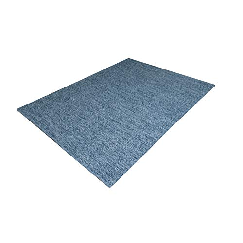 MystiqueDecors Blue & Teal 100% Cotton 5x7' Area Rug Reversible Indoor/Outdoor, Living Room, Bedroom Décor, Machine Washable