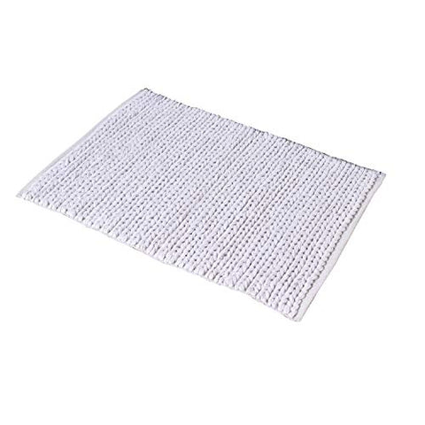 2x3' White Door mat Braided Area Rug
