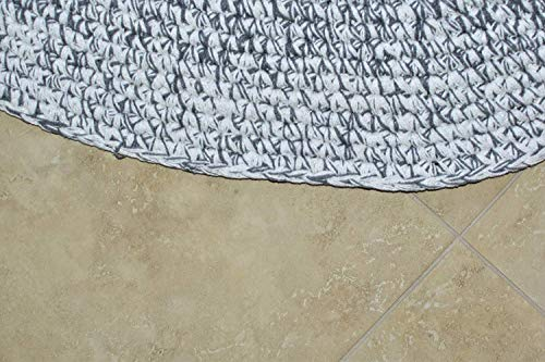 MystiqueDecors 5 ft Round Area Rug for Living Room Bedroom - Soft Cotton Hand Woven Patterned Rug 5'