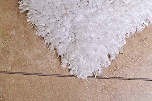 MystiqueDecors Super Soft Area Rug Snow White Faux Sheepskin Shag Silky Microfiber Handmade Shaggy Rug for Baby Nursery Childrens Room, 4' x 6'