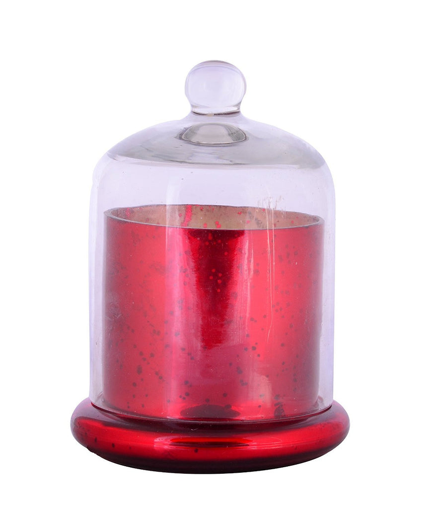Scented Wax Filled Candle Holders Glass Votive-Red