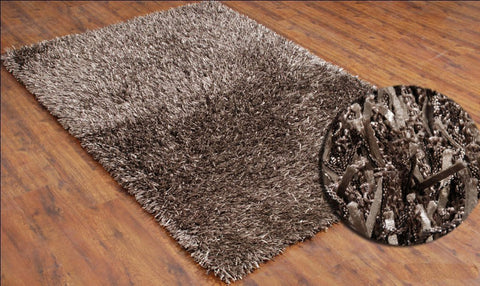 5x7 ft Shaggy Beige Area Rug