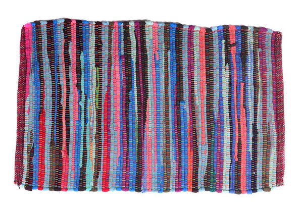 "Multi Purpose Mats Cotton Rag Mat-Multi Color Size 20""X 31"""