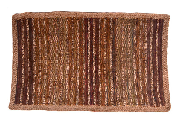 Multi Purpose Mats Jute Cotton Floor Mat Size-Brown 2ft X 4ft