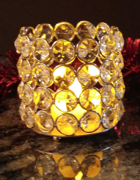 Crystal Tea Light Votive Candle Holders