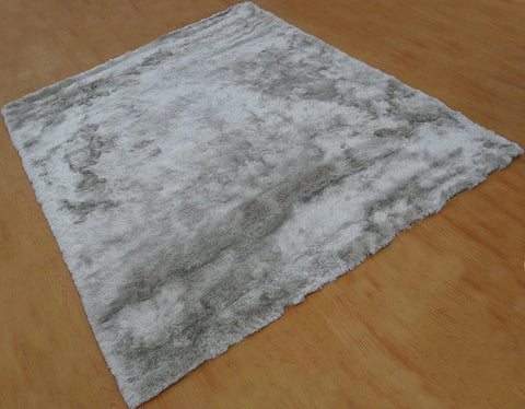 5x8 ft Gray Shaggy Polyester Area Rug