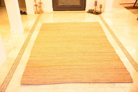 Large Area Rugs Handmade Jute Braided Rectangle Size 5 ft x 8 ft