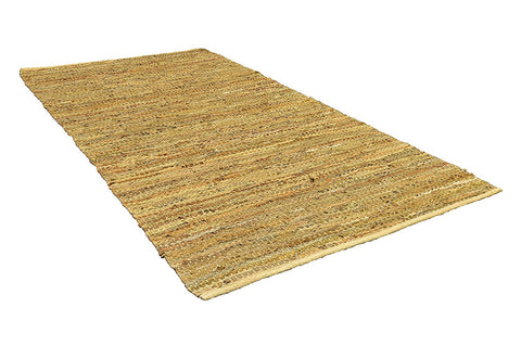 Beige Area Rugs 3x6 ft Leather Hand Woven (36''x 72'') Area Rugs