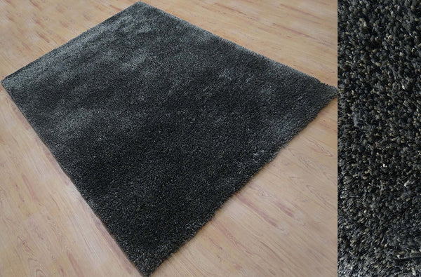 5x7 ft Soft Shaggy Charcoal Grey Area Rug