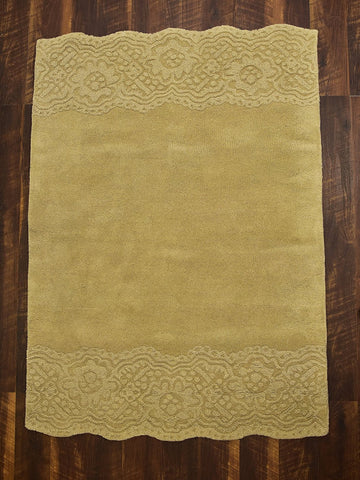 4x6 ft Beige Woolen Area Rug