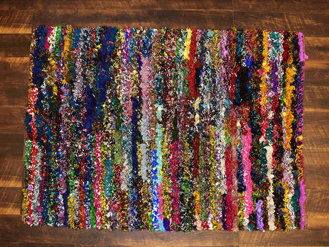 Shaggy Rugs 3x5 ft Area Rug Soft Shag Multi Color Handwoven Carpet (36''x 60'') Bedroom Kidsroom Living Room Indoor Rug by MystiqueDecors