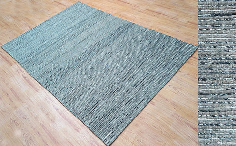 5x8 ft Light Silver Grey Jute & Viscose Area Rug