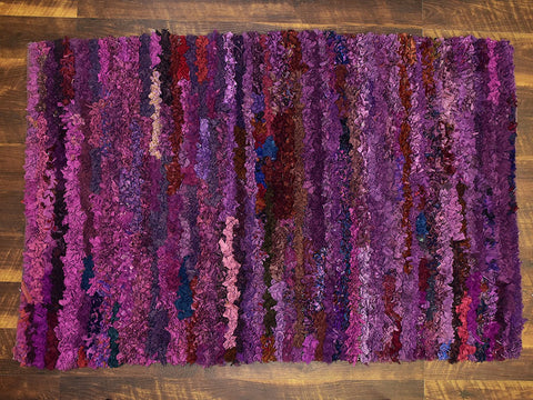 Shaggy Rugs 3x5 ft Area Rug Soft Shag Multi Color Purple Handwoven Carpet (36''x 60'') Bedroom Kidsroom Living Room Indoor Rug by MystiqueDecors