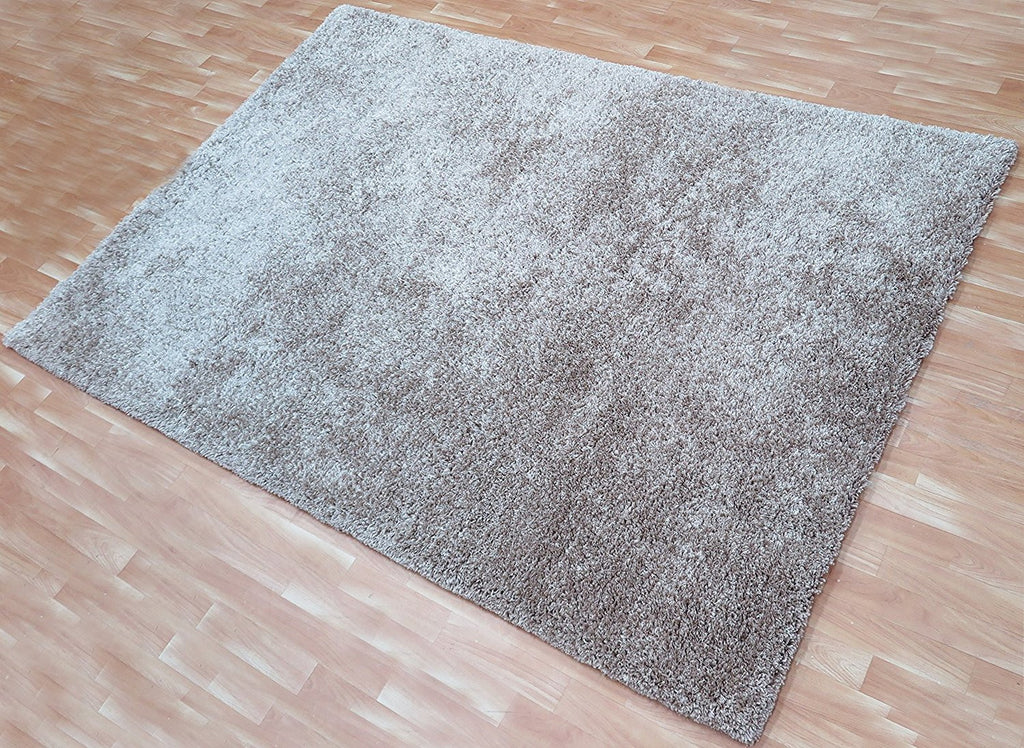Light Brown Soft Shaggy 5x8 ft Soft Shag Area Rug Tufted Polyester Carpet Contemporary Style Living Room Kids Room Bedroom Rugs