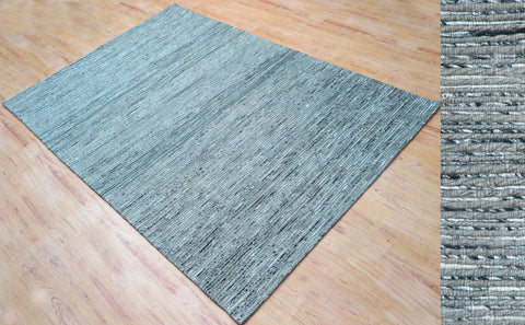 5x8 ft Hand Tufted Grey Jute & Viscose Area Rug Family Media Living Bar Room Bedroom Dining Room Carpet