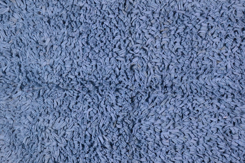 Bath & Floor Mats Soft Shag Cotton Mats-Blue 2 ft x 3 ft