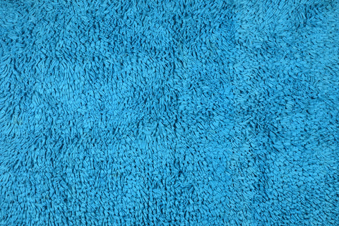 Bath & Floor Mats Soft Shag Cotton Mats-Turquoise 2 ft x 3 ft