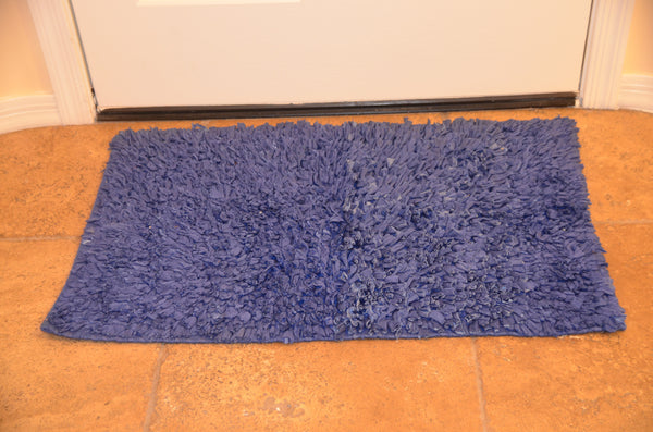 Bath & Floor Mats Soft Shag Cotton Mats-Teal Size 2 ft x 3 ft