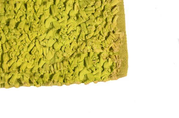 Bath & Floor Mats Soft Shag Cotton Mats-Green Size 2 ft x 3 ft