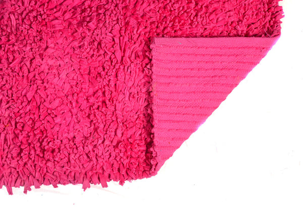 Bath & Floor Mats Soft Shag Cotton Mats- Pink Size 2 ft x 3 ft