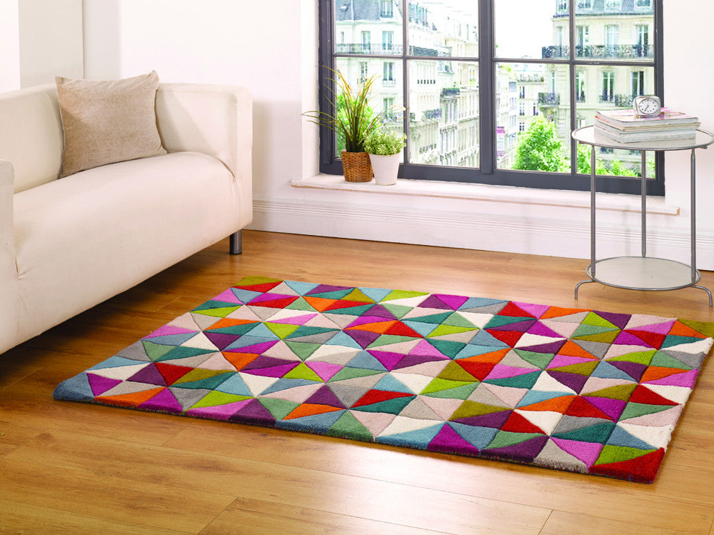 5x7 ft Woolen Multicolor Hand Tufted Wool Area Rug Carpet for Living Room  Bedroom Dining Room Modern Rugs