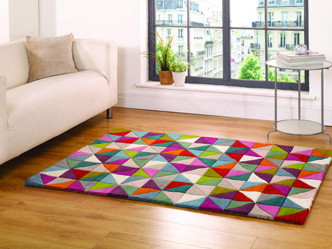 5x7 ft Woolen Multicolor Wool Area Rug