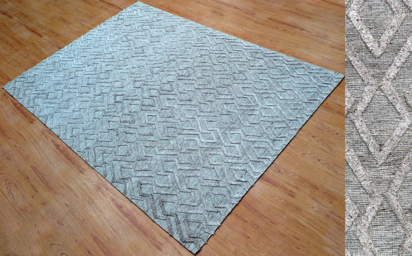 5x8 ft Light Brown Viscose Area Rug