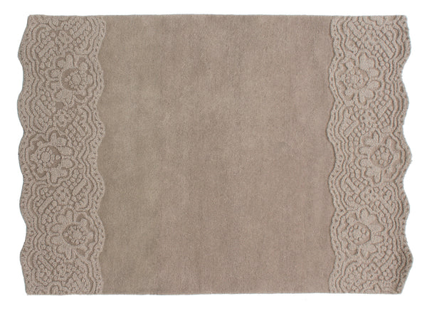 4x6 ft Beige Hand Tufted Woolen Area Rug Carpet Living Dining Room Bedroom Kids Room