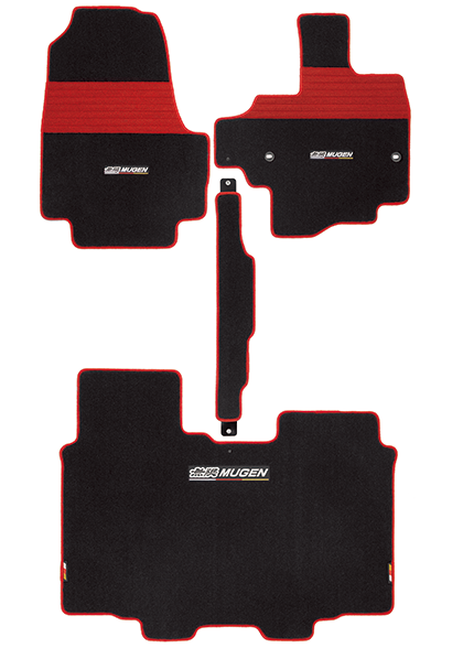 MUGEN Sports Mat Black-Red  For N-BOX JF3 JF4 08P15-XNH-K0S0-RD